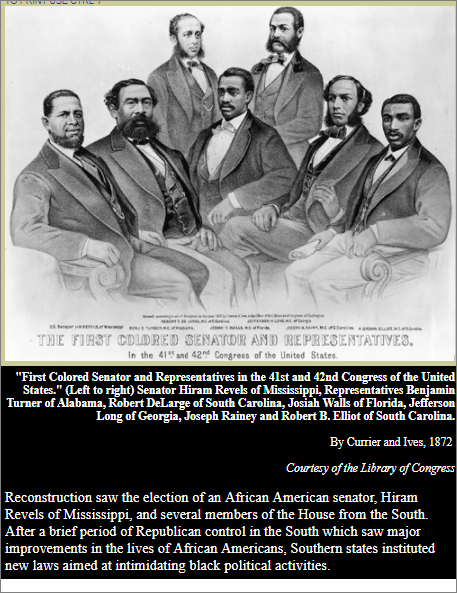 First Black Senators and Reps with caption